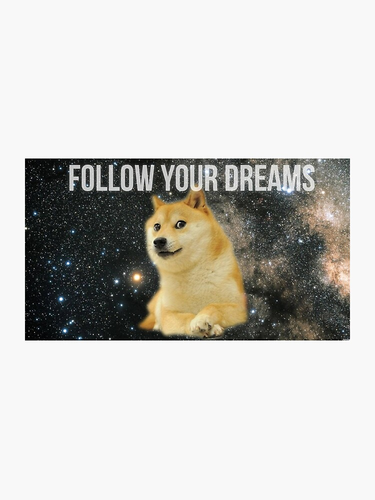 Doge Follow Your Dreams Photographic Print