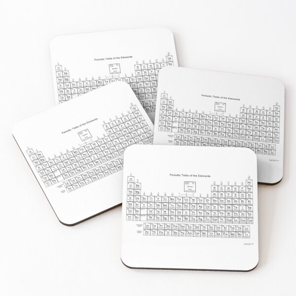 The Chemistry Periodic Table Coasters (Set of 4)
