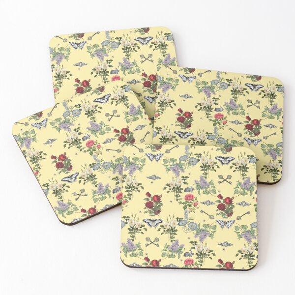 Secret Garden Clotted Cream Coasters (Set of 4)