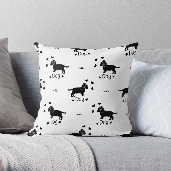 Love Black English Cocker Spaniel  Throw Pillow