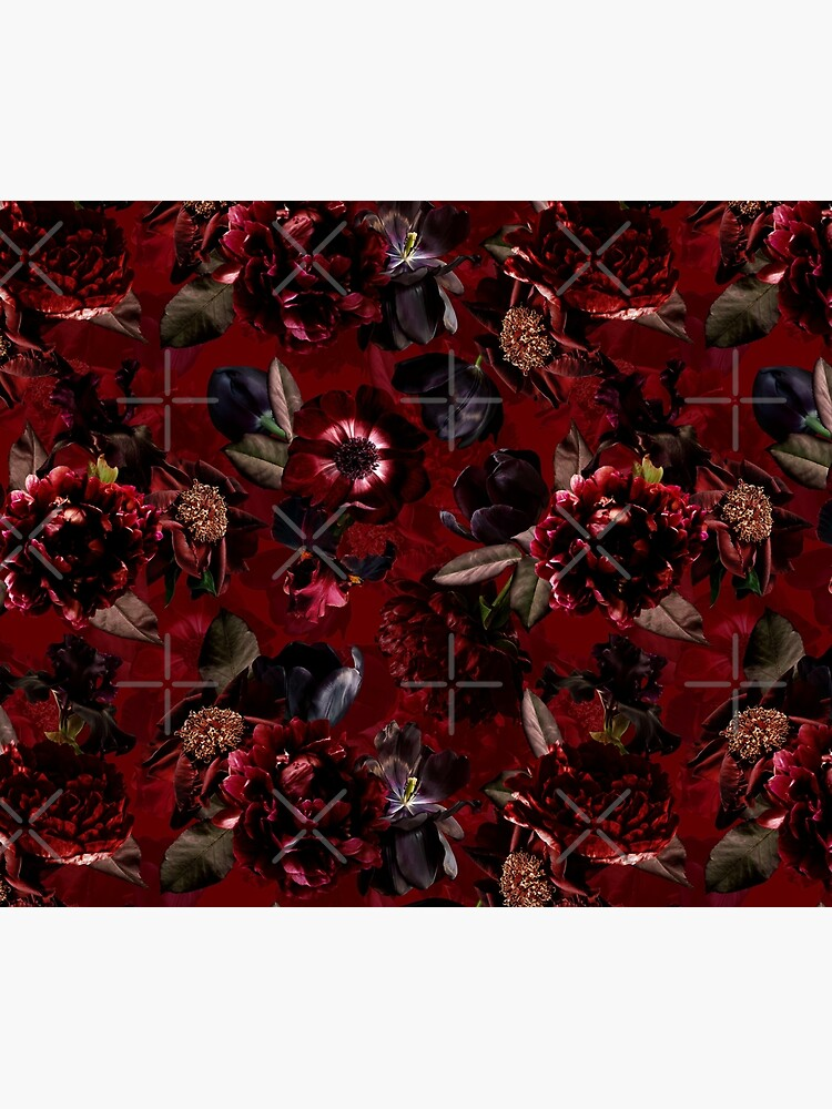 Dark Red Midnight Roses  by UtArt