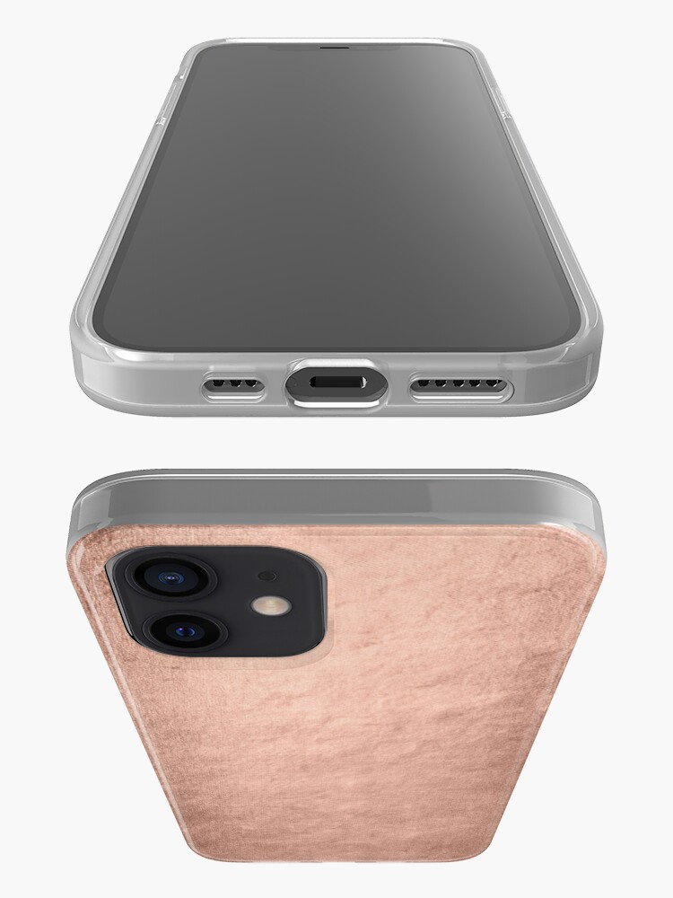 Alternate view of Shiny Metal Copper Texture iPhone Case & Cover