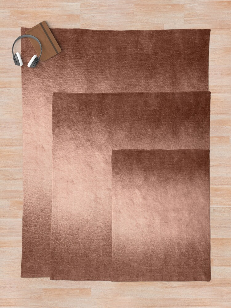 Alternate view of Shiny Metal Copper Texture Throw Blanket