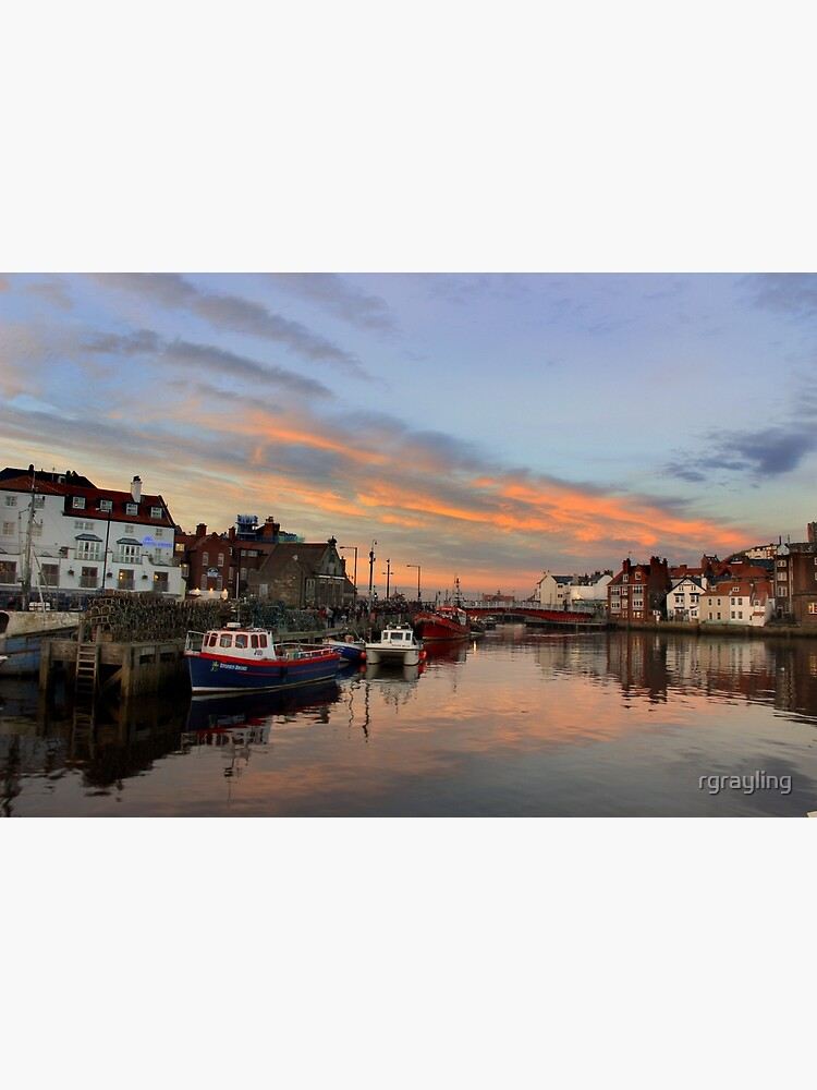 Whitby Harbour at Sunset by rgrayling