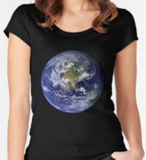 Blue Marble Women's Fitted Scoop T-Shirt