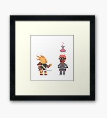 Half Dragon talking to a Alchemist Framed Print