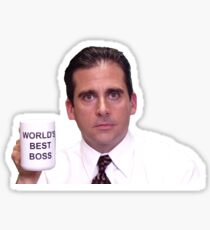 Michael Scott - World's Best Boss Sticker