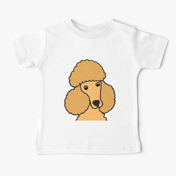 Funny Apricot Miniature Poodle Dog Face Baby T-Shirt