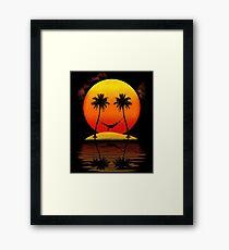 Sweet Smile of Sunset Framed Print