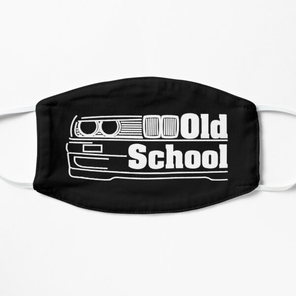 E30 Old School - Blanco Mascarilla plana