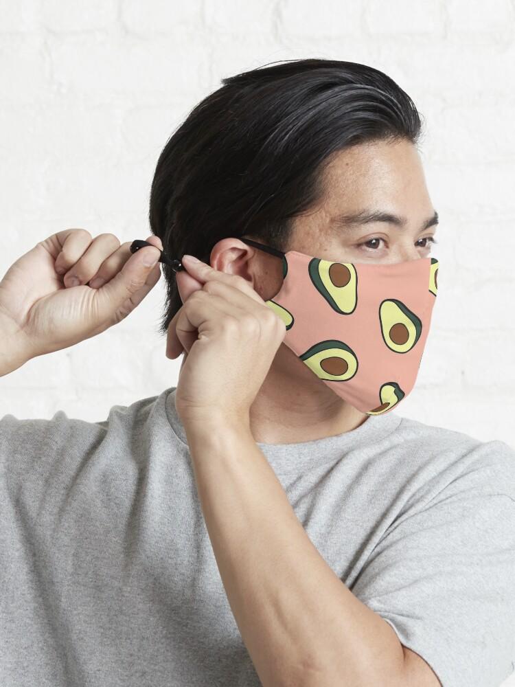 Alternate view of Avocado Pattern in Pink Mask