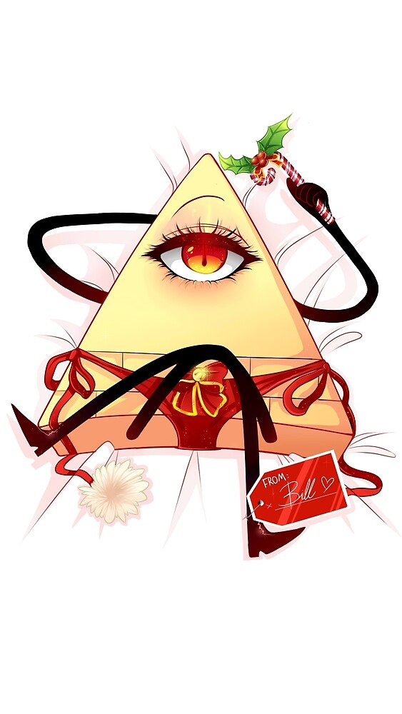 Bill cipher waifu christmas pillow without cummies by EllinorLekebjer