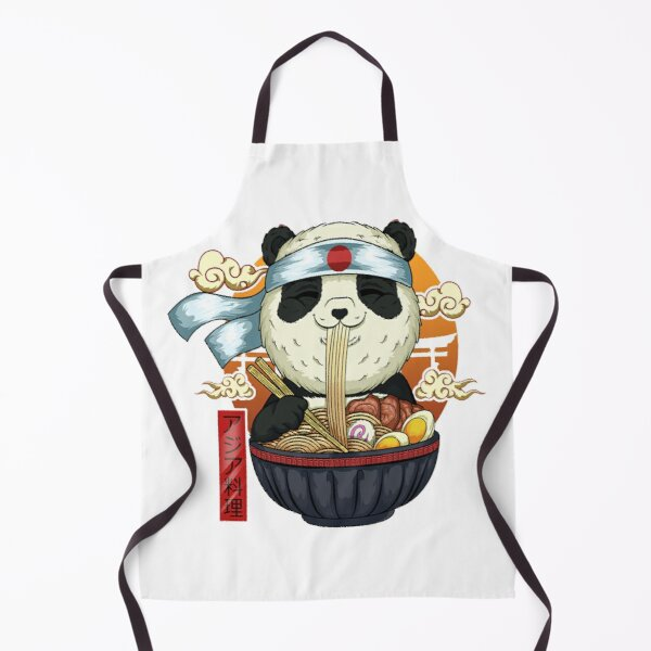 Ramen panda master kawaii Apron