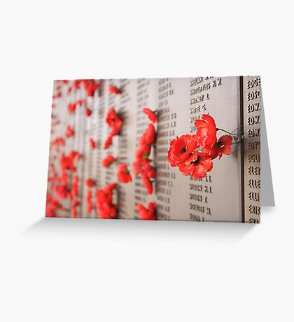 Soldiers Memorial, AWM, Canberra Greeting Card