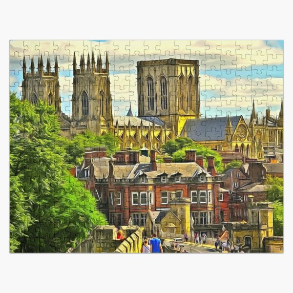 York Minster, the Cathedral of Saint Peter in York, England, founded 627 CE (1) Jigsaw Puzzle
