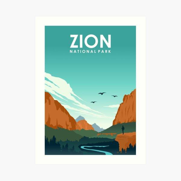 Zion National Park Utah Travel Poster Art Print
