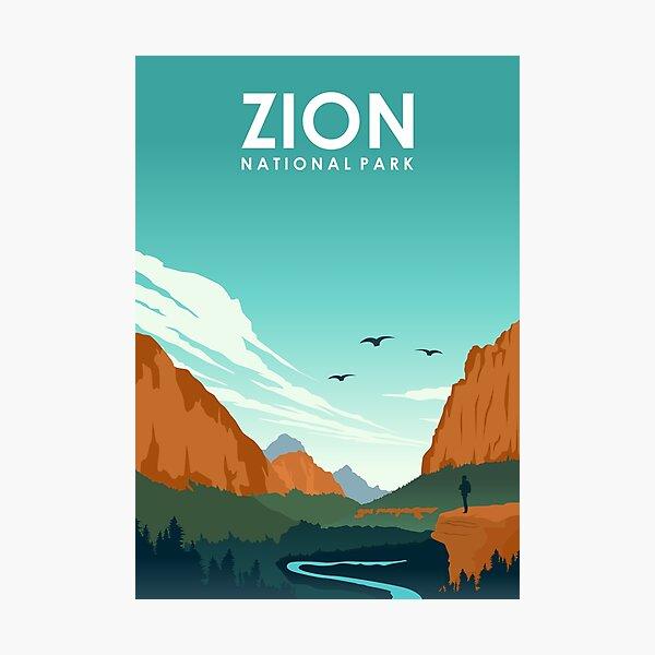 Zion National Park Utah Travel Poster Photographic Print