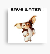 Gizmo save water Canvas Print