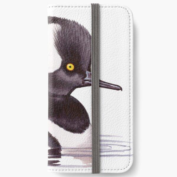 Hooded Merganser iPhone Wallet