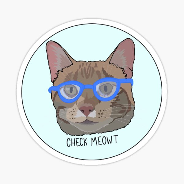 Cat in Glasses Sticker