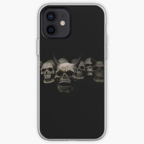 skulls and demons iPhone Soft Case