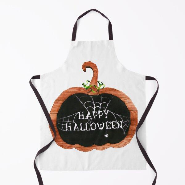 Festive Halloween Chalkboard Pumpkin Apron