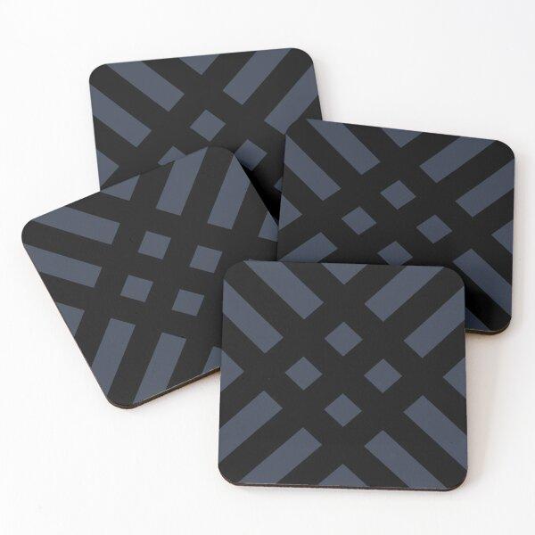 Dijagonala v.2 (Black/Blue) Coasters (Set of 4)