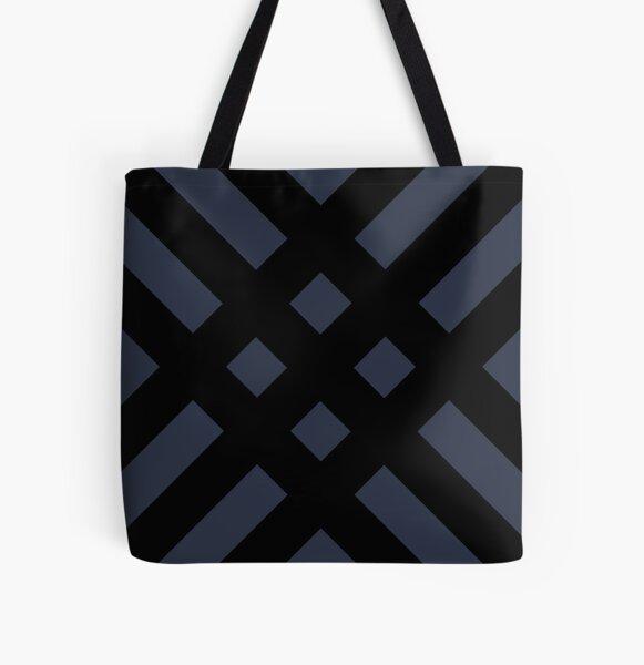 Dijagonala v.2 (Black/Blue) All Over Print Tote Bag