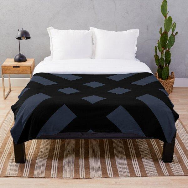 Dijagonala v.2 (Black/Blue) Throw Blanket