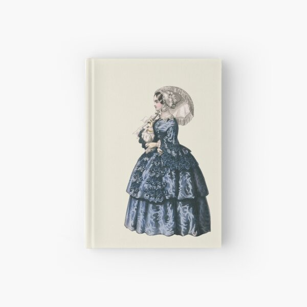Victorian Lady with parasol and lace dress Hardcover Journal