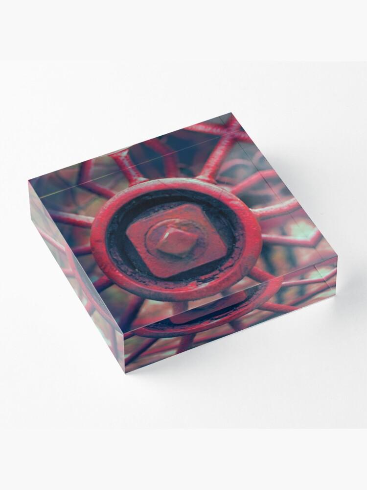 Alternate view of Rusty Wheel Acrylic Block