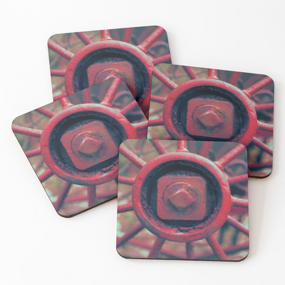Rusty Wheel Coasters (Set of 4)
