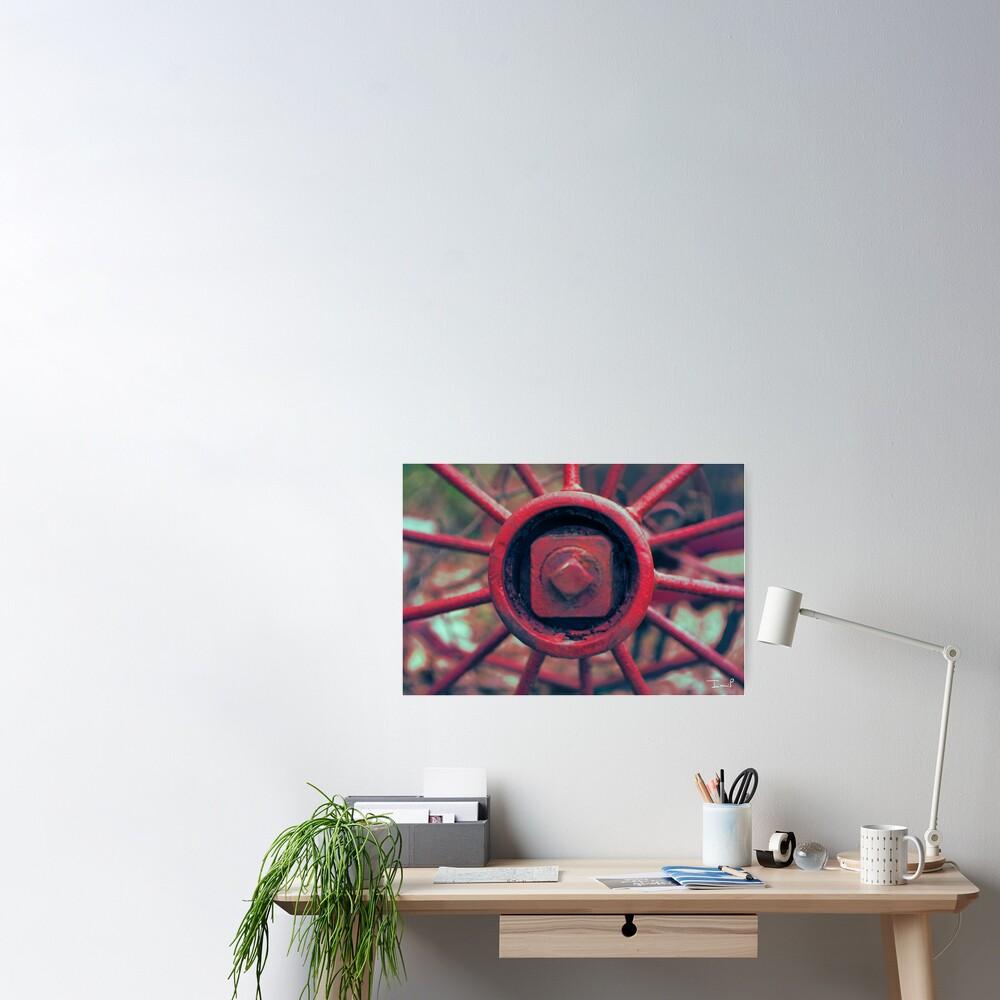Rusty Wheel Poster