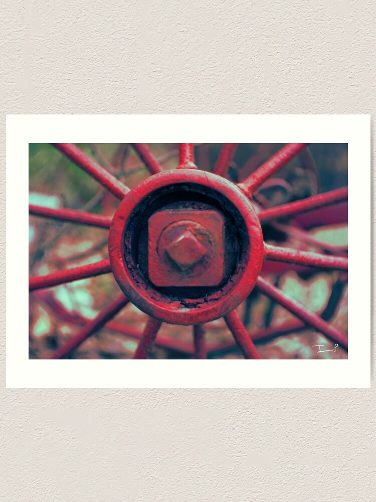 Alternate view of Rusty Wheel Art Print