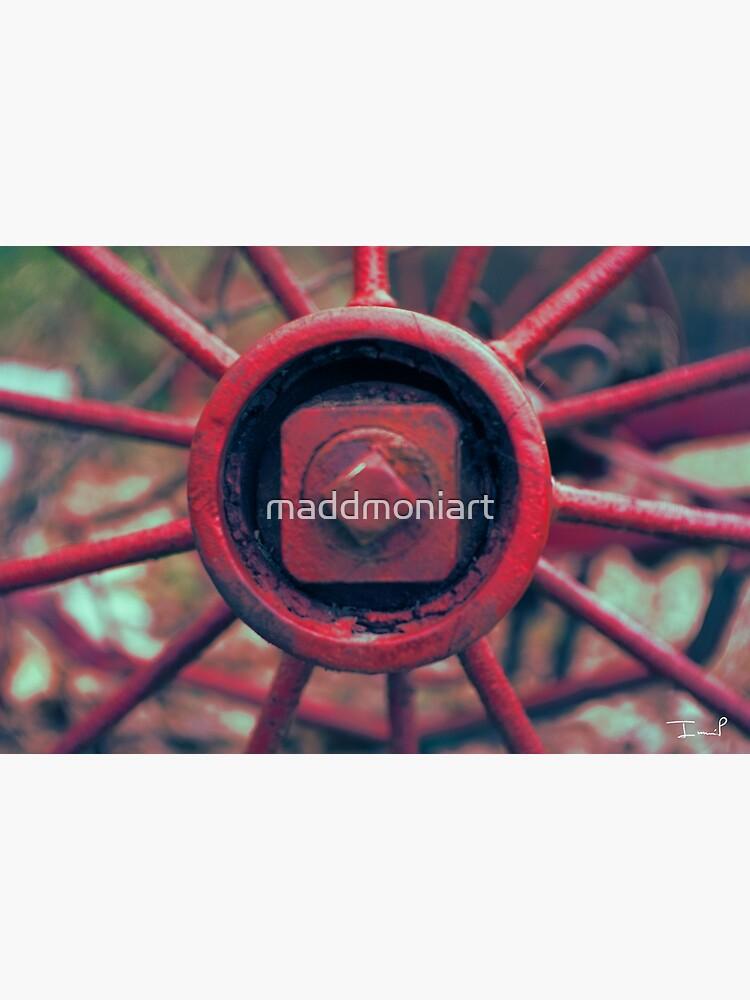 Rusty Wheel by maddmoniart