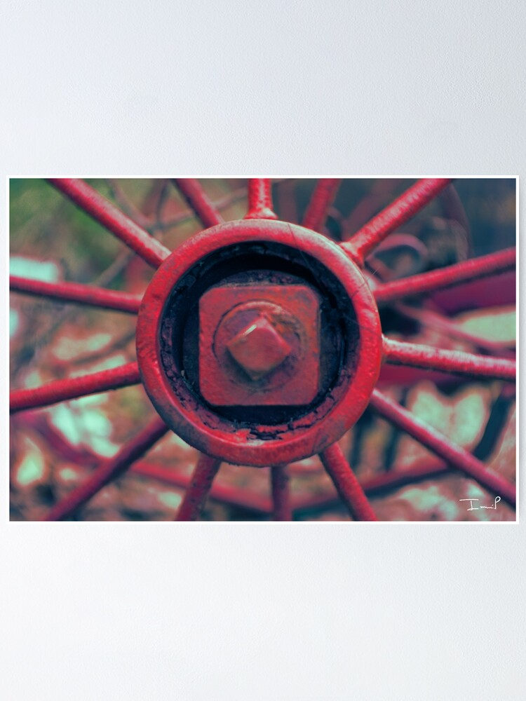 Alternate view of Rusty Wheel Poster