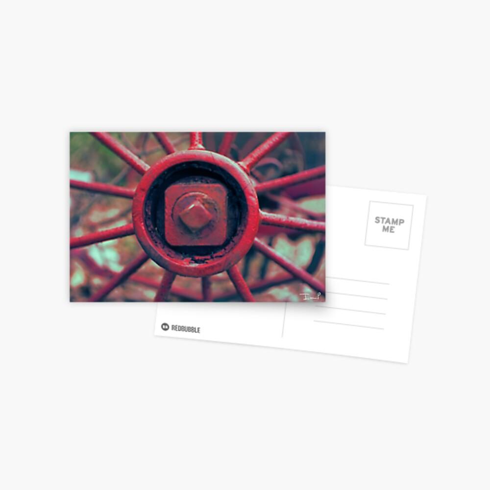 Rusty Wheel Postcard