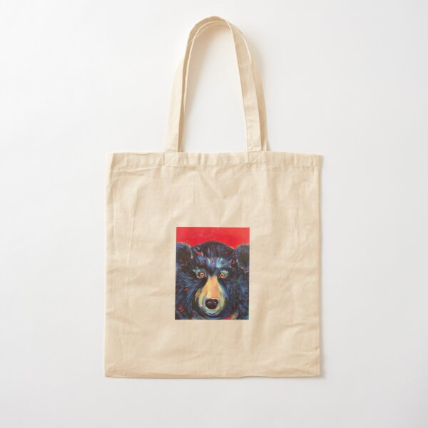 Frederick the Bear Cotton Tote Bag