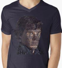 Sherlock Quotes Men's V-Neck T-Shirt