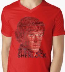 Sherlock Quotes Men's V-Neck T-Shirt