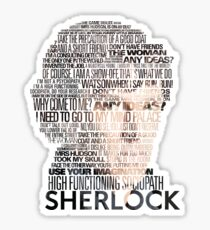 Sherlock Quotes Sticker