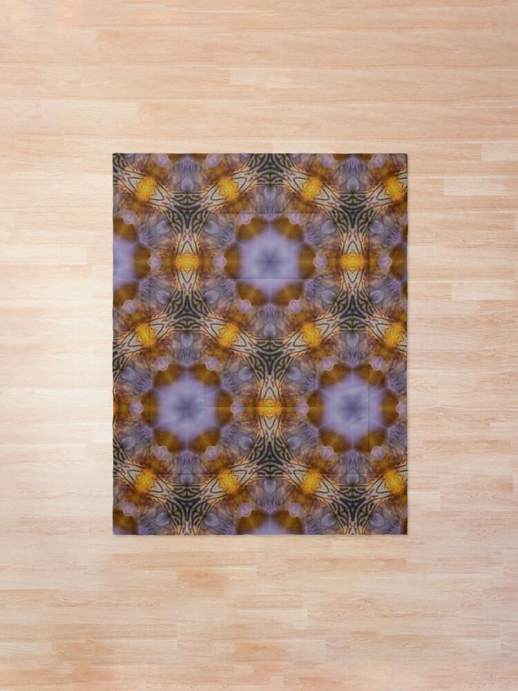Alternate view of Flower  kaleidoscope Comforter