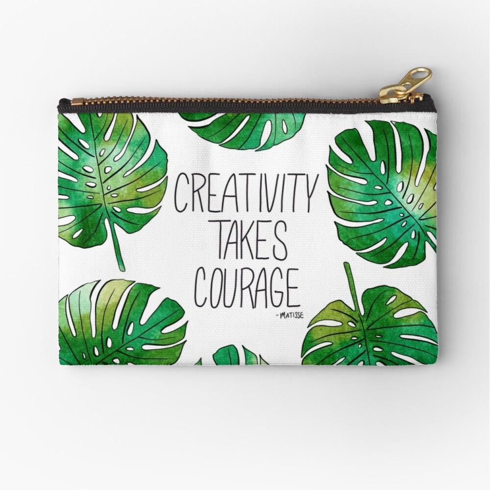 Tropical Leaf  Zipper Pouch
