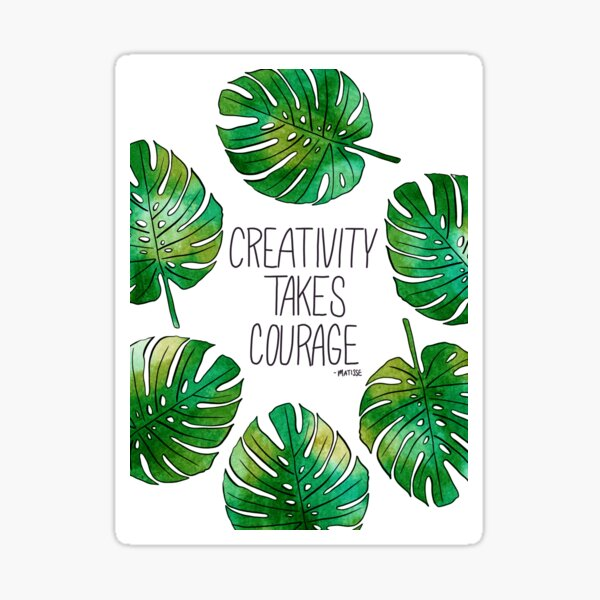 Tropical Leaf  Sticker