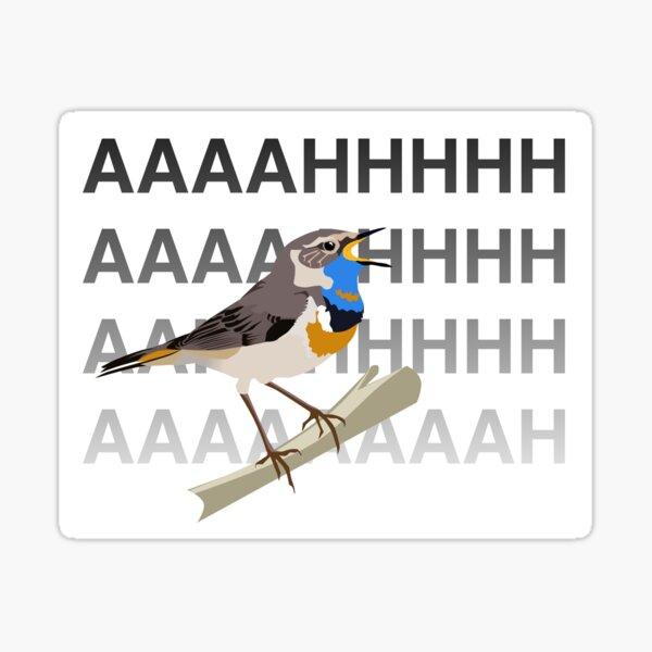 Bluethroat, after reading the news Sticker