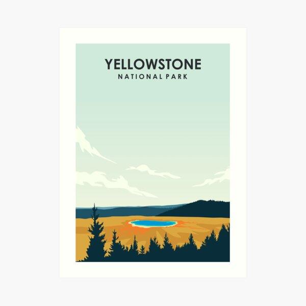 Yellowstone National Park Travel Poster Art Print