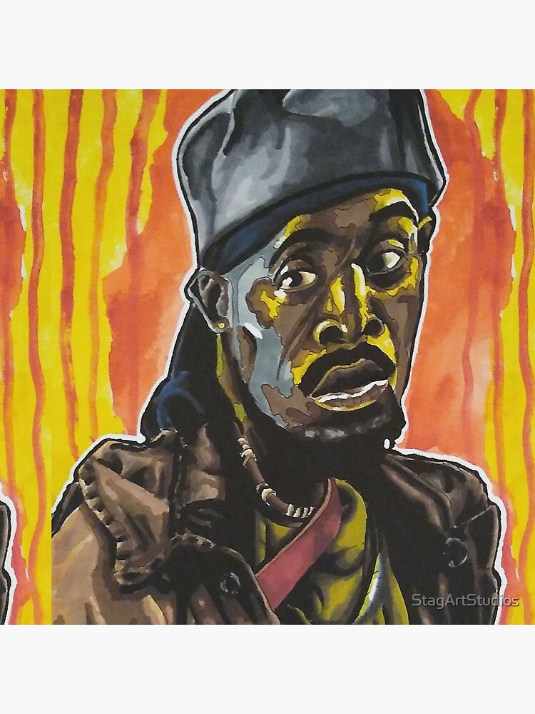 """The Wire - """"Man Got To Have A Code"""" Omar Little portrait (original) by StagArtStudios"""