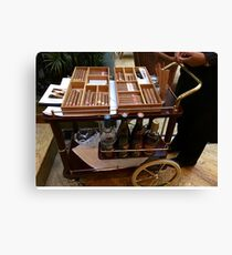Cuba - Havana - handrolled cigars and rum Canvas Print
