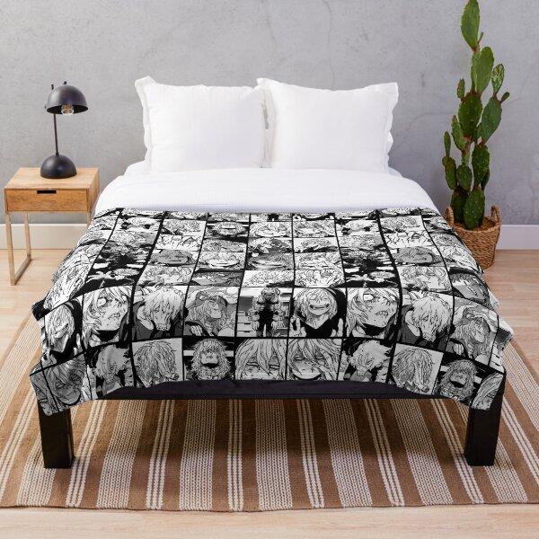 Shigaraki Collage black and white version Throw Blanket