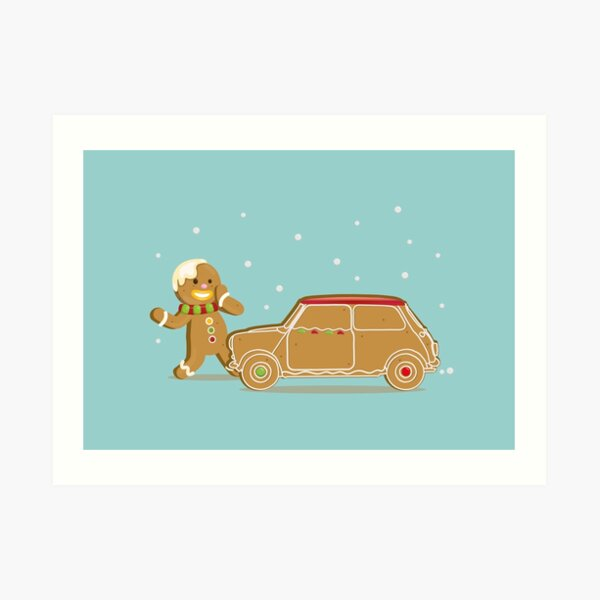 Gingerbread classic english car Art Print